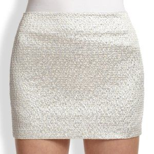 ALICE + OLIVIA Metallic Elana Shiny Mini Skirt *4